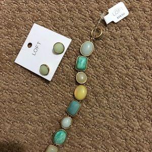 Loft Matching Bracelet & Earrings